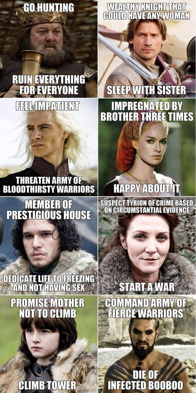 The Logic In Game of Thrones. #funny #got #meme #grrm