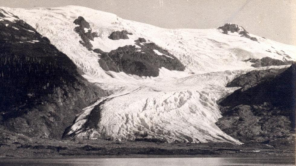 Toboggan Glacier (1905) - Photos of Alaska Then And Now. This is A Get Ready to Be Shocked When You See What it Looks Like Now.