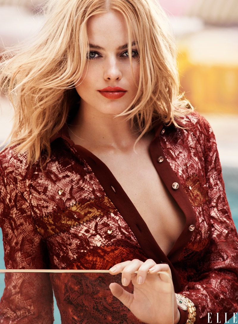 Margot Robbie sizzles for Elle US August 2015 issue