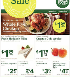 Whole Foods Ontario Flyers November 1 - 7, 2017