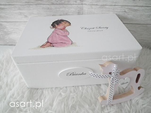 szkatułka dla dziewczynki na chrzest