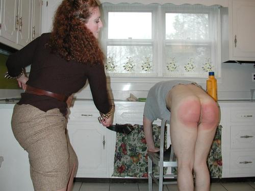 Something Female led household spank dad