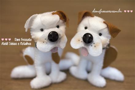 Bulldogs de Feltro - Ideias e Retalhos por Dani Fressato