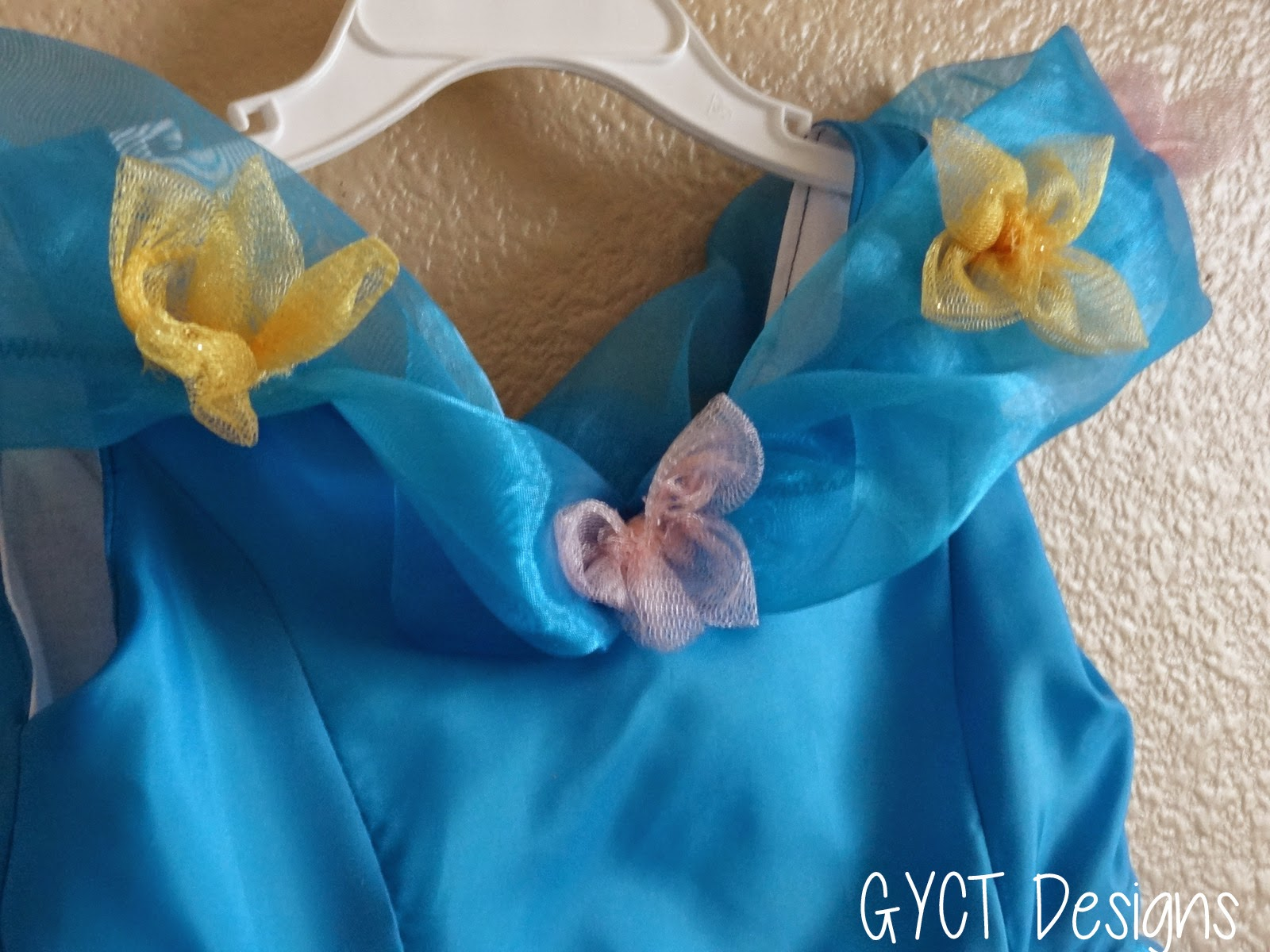 blue princess cinderella party dress