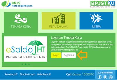cek Saldo BPJS Ketenagakerjaan via Website