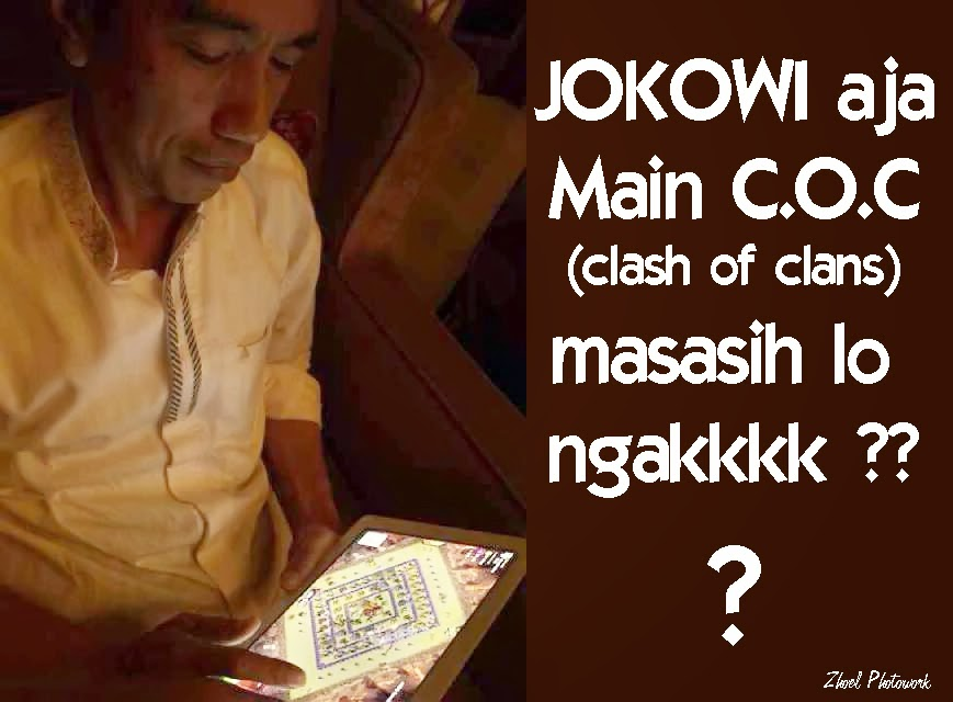Jokowi main COC