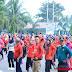 Masyarakat Dharmasraya Ikut Partisipasi Pecahkan Rekor MURI Tari Gemu Famire