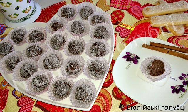 трюфелі шоколадні рецепт
