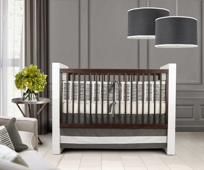 Nursery Decor: A Modern Gray And Sage Green Baby's Room