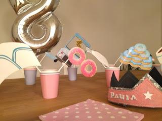 decoración fiesta infantil en rosa