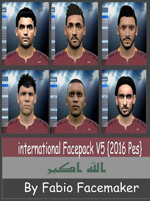 Pes 2016 international Facepack V5 By Fabio
