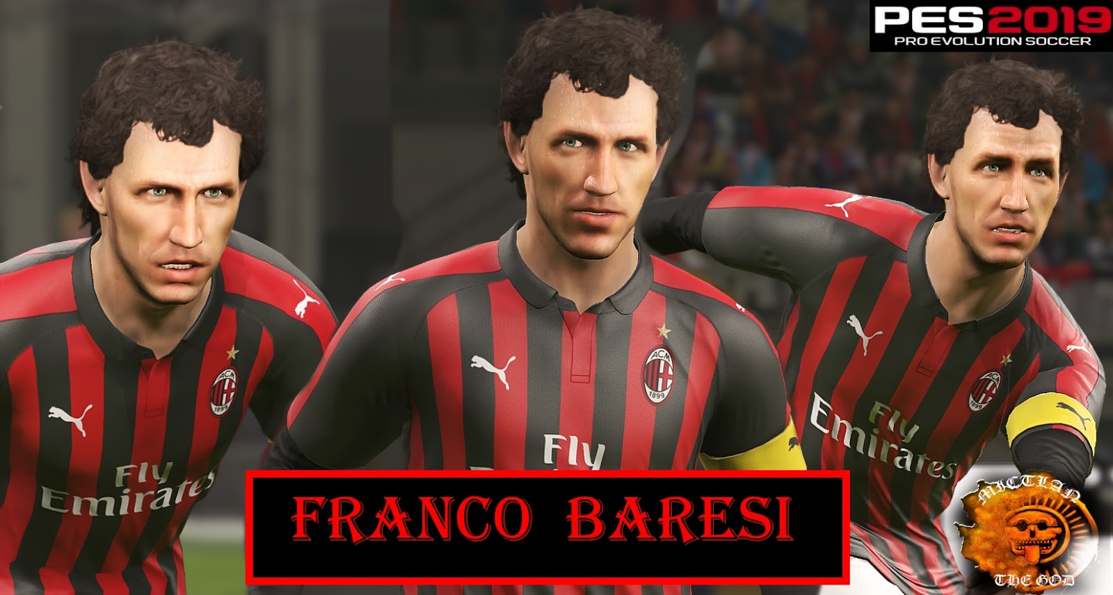 PES 2019 Franco Baresi Face by MictlanTheGod