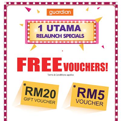 Guardian Malaysia Free Cash Vouchers 1 Utama Store Relaunch