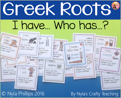 Greek Root Small Group Activites and Games