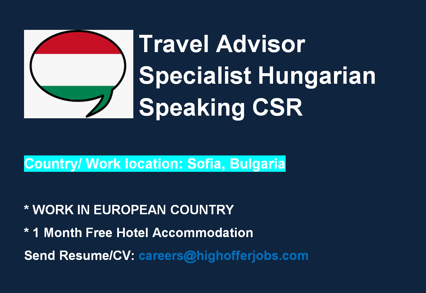 Travel Advisor Specialist - Hungarian Speaking CSR for Air France