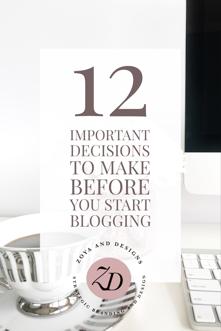12 important decisions you need to make before you even think of starting a blog