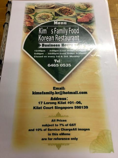 Kim's Family Food Korean Restauran