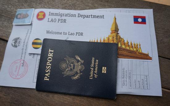 Tramitar el visado en Laos