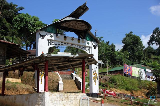 Yikhum Village gate on the way to Doyang