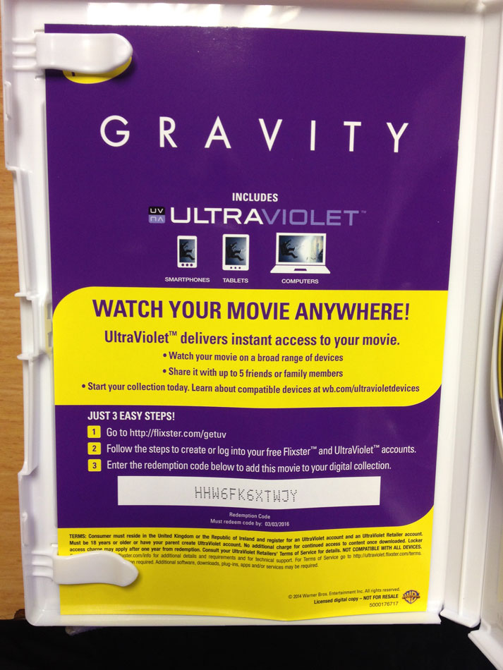 Your Free Daily Ultraviolet UV Codes for Movies Movie
