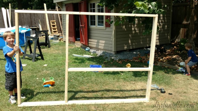 Simple chicken run frame.