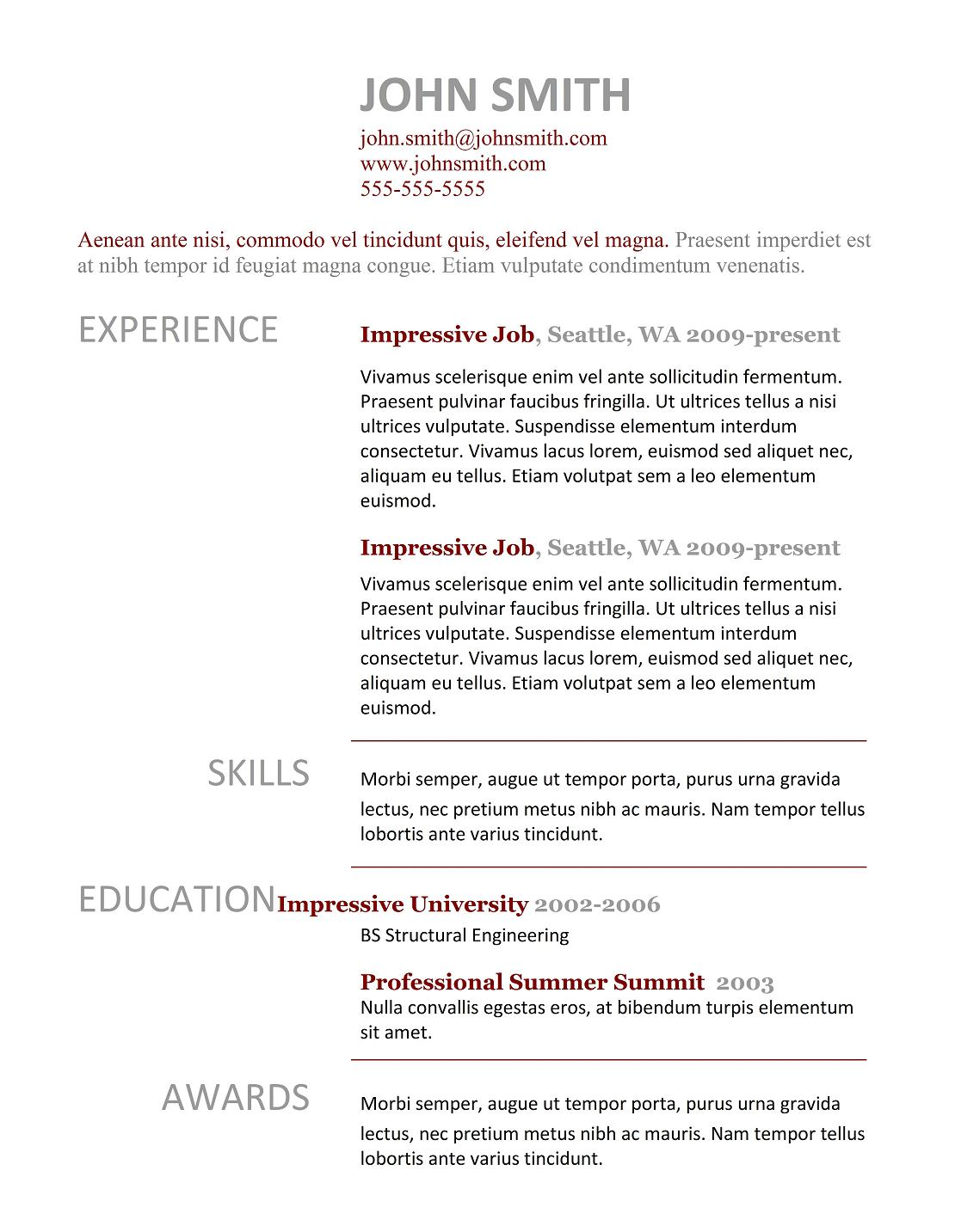 Professional Examples Of Resumes 5 Best Examples Of Resume Tips 2015 Doc Format Best