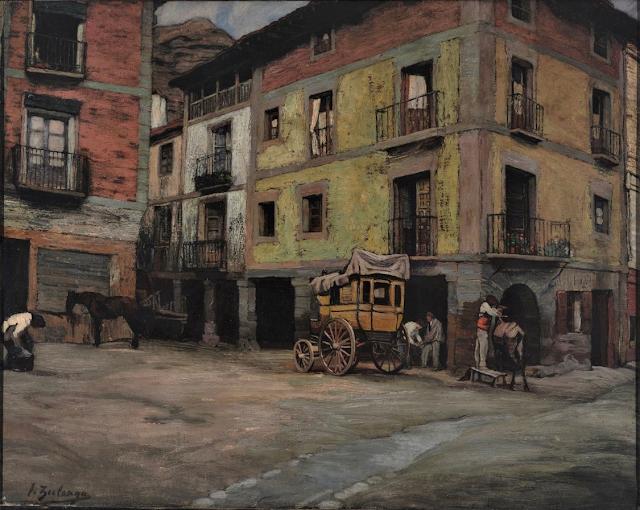 Paisaje de Nájera (Ignacio Zuloaga, 1916)