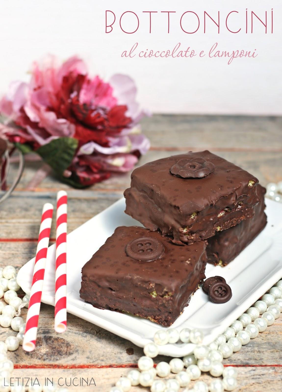 Letizia in Cucina: Bottoncini al cioccolato e lamponi - Cakes Lab