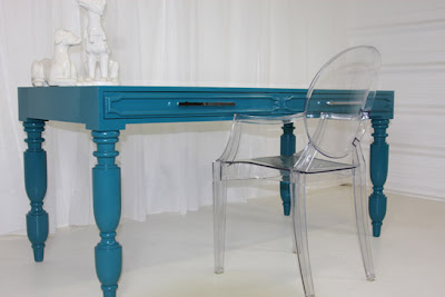 south beach desk turquoise 543 Adding Color without Paint: Interior Design Wednesday 11