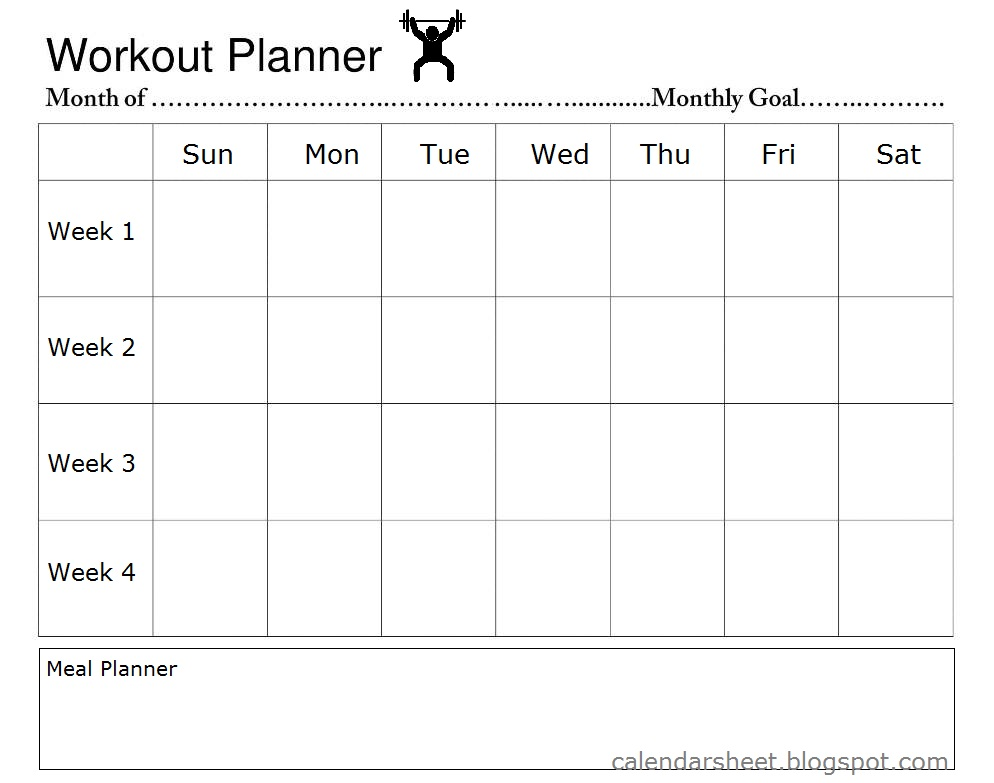 How To Use Workout Calendar Planner Template