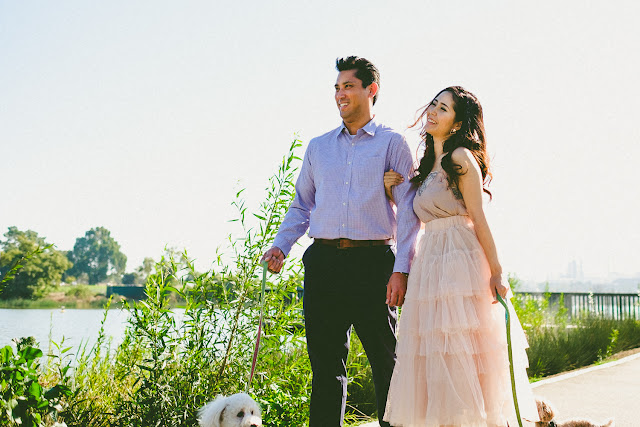 Engagement Photography Session of Saho and Cliff at Ken Malloy Harbor Park in Harbor City, CA