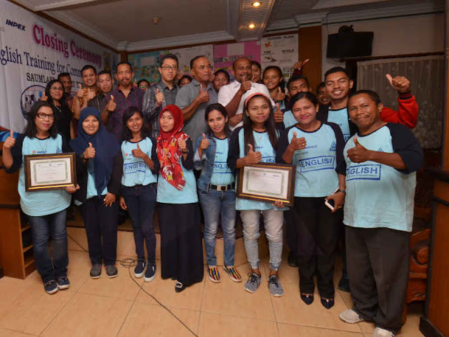 Inpex Masela Supports English Language Training in Tanimbar