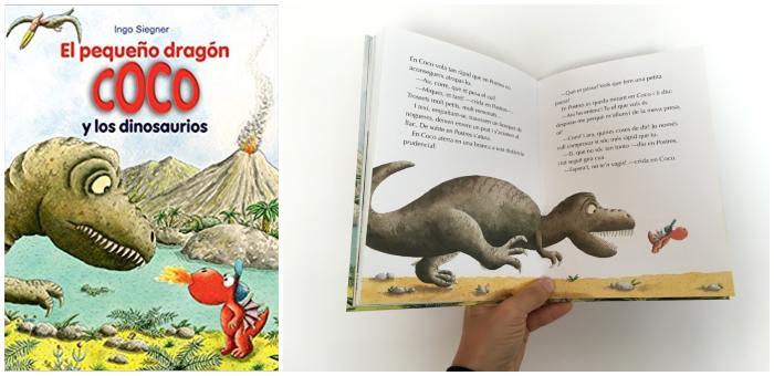 libro con capítulos pequeño dragón coco y los dinosaurios
