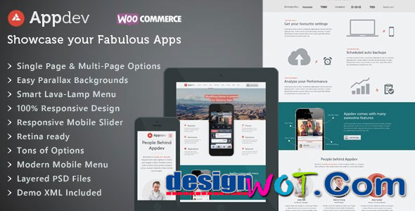 Appdev – Best Mobile App Showcase WordPress Theme