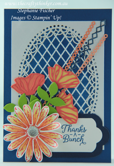 #thecraftythinker ,  #delightfullydetailedlasercut , #cardmaking , #stampinup , Daisy Delight, Three ways with Delightfully Detailed Laser Cut Paper, Ink It Stamp It, Stampin' Up Australia Demonstrator, Stephanie Fischer