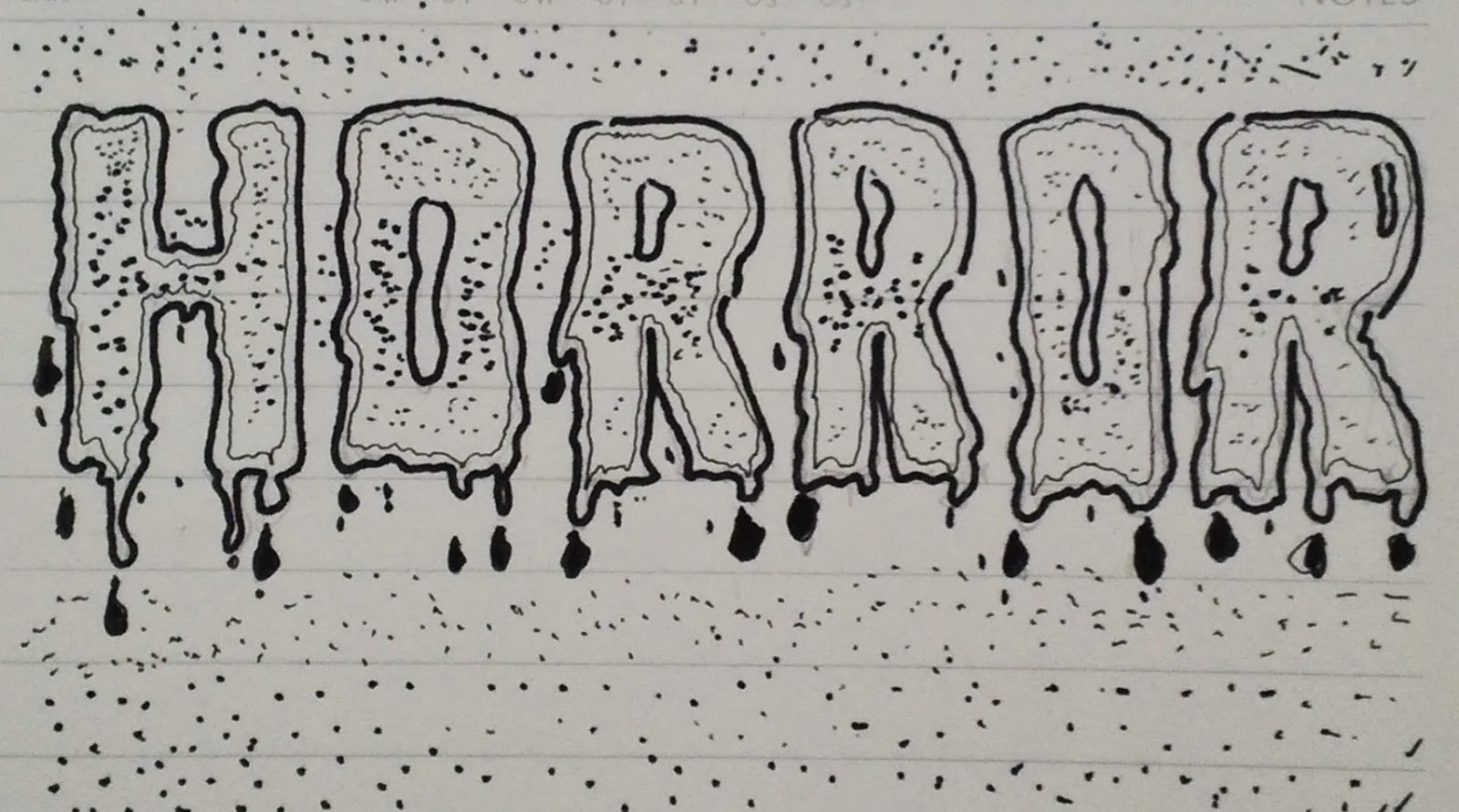 Horror Lettering by Imagifa