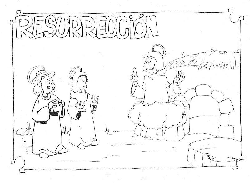 Resurreccin de Jesus para colorear ~ Dibujos Cristianos