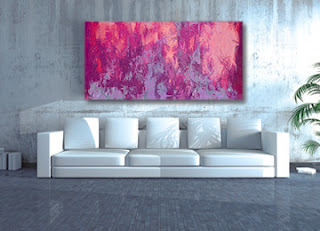 purple, pink , blue, abstract painting, large art, contemporary painting, digital painting, large painting, original painting, buy art, Sam Freek,