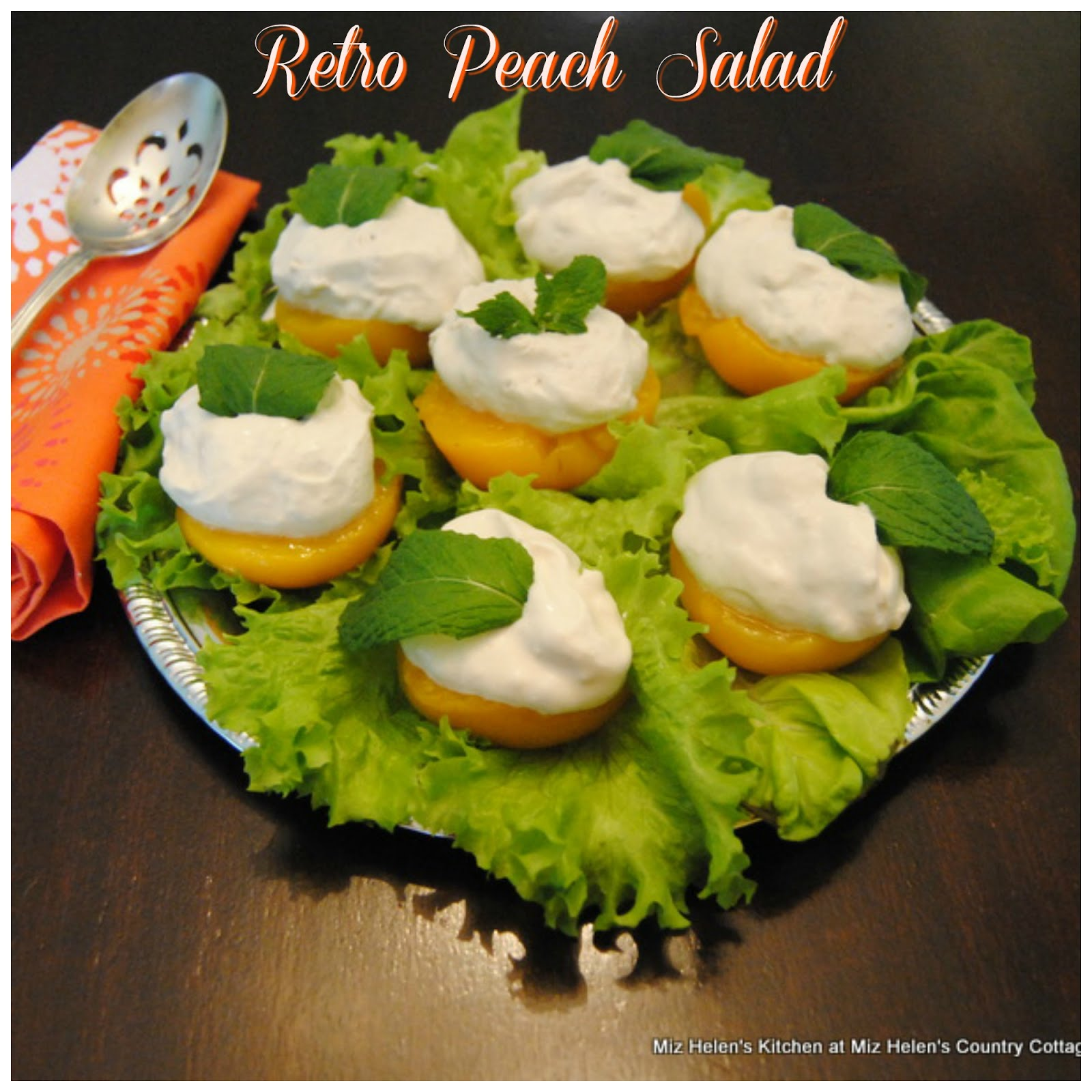 Retro Peach Salad