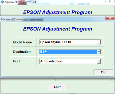 Unduh Resetter Epson Stylus TX110 Dan TX111