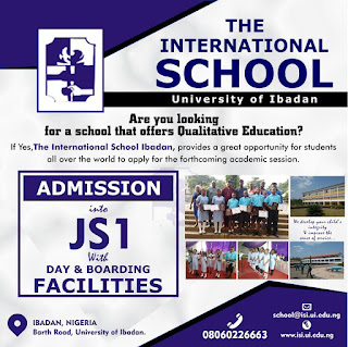 UI International School Admission Form into JSS1 - 2018/2019