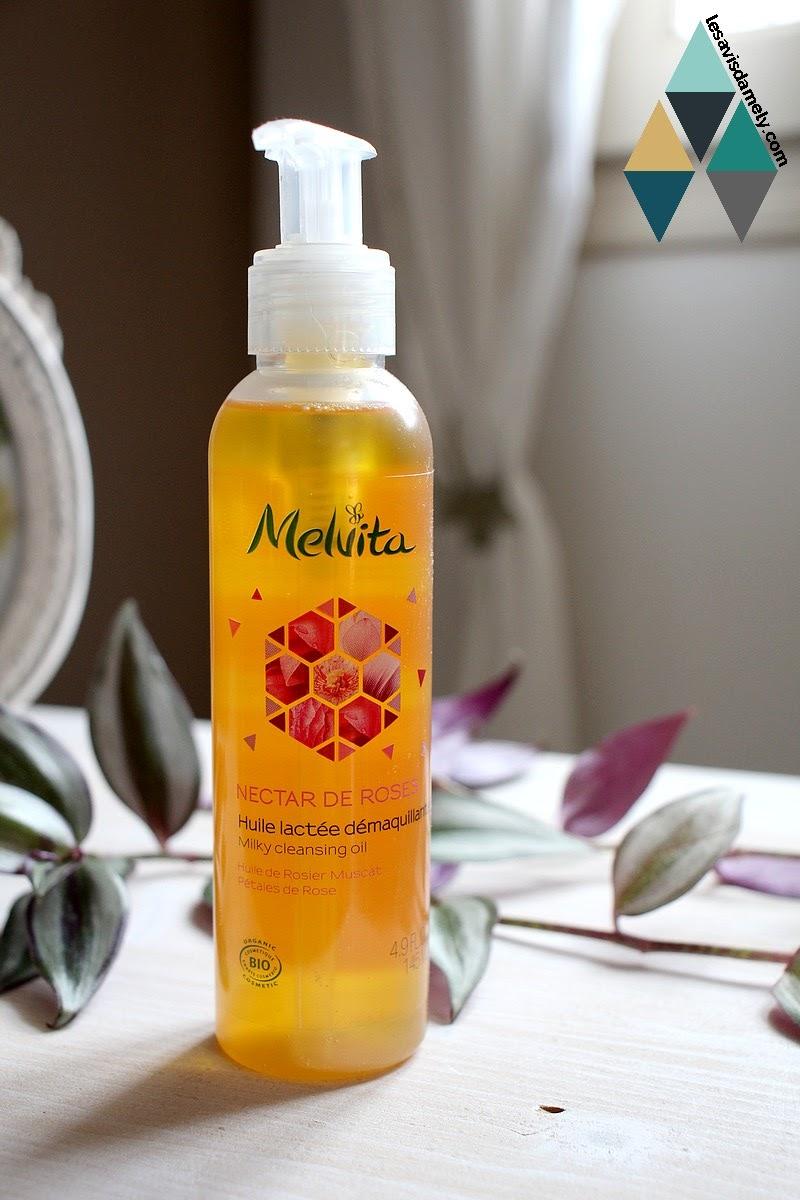 avis nectar de roses Melvita huile démaquillante