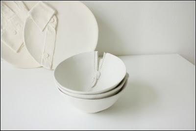 diseño de vajilla inspirada en prendas de ropa