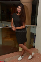 Priya Vadlamani super cute in tight brown dress at Stone Media Films production No 1 movie announcement 062.jpg