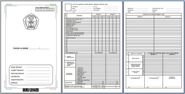 Contoh Format Buku Legger SD, MI, SMP, SMA, SMK