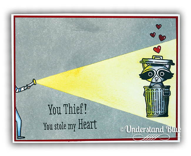 Trash Panda card by Understand Blue