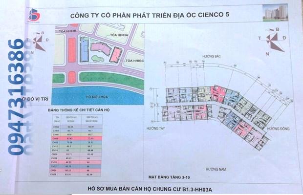 mặt bằng chung cư B1.3 HH03A Thanh Hà Cienco 5