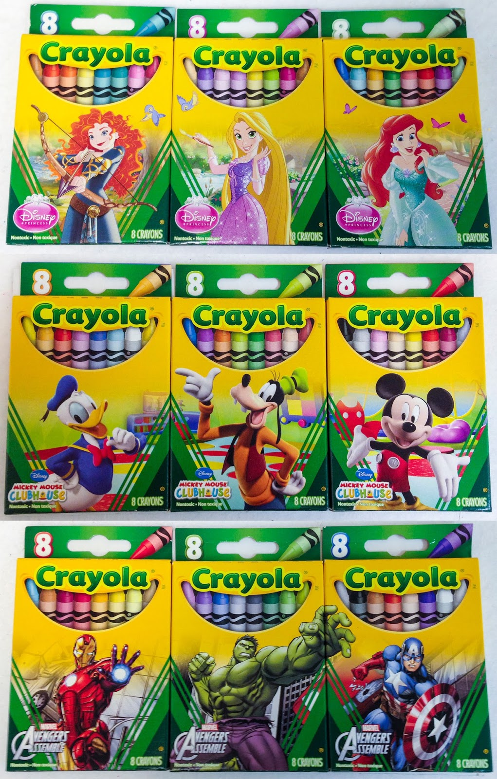 Disney 8 Count Box Collection | Jenny\'s Crayon Collection