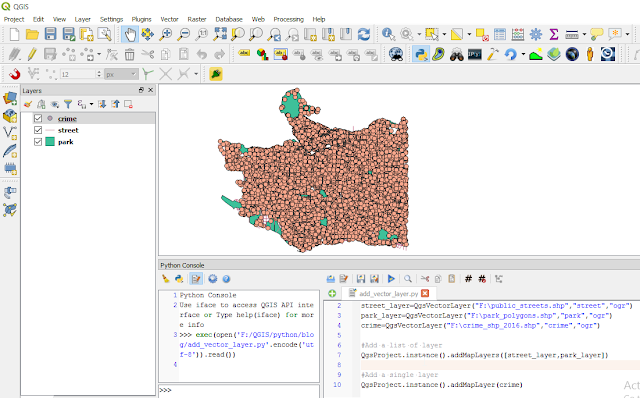 Adding vector layer with QGIS Project instance