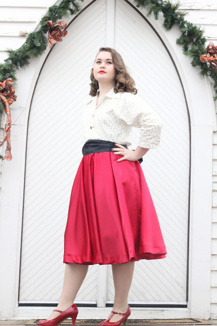Christmas Shimmer| 1950's Christmas Outfit